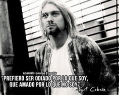 Spanish is one of the most influential languages of this world and here are some Inspirational Quotes in Spanish. Kurt Cobain, Nirvana Frases, The Rock, Rock And Roll, Some Inspirational Quotes, Estilo Rock, Bae Quotes, Spanish Class, Spanish Quotes
