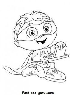 free printable cartoon super why coloring pages for kidsfree print out cartoon super why