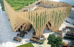 La maquette du pavillon de la France pour l'Exposition universelle de Milan en 2015.