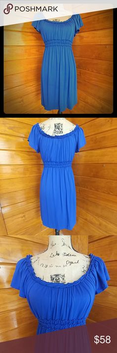 Sopihie Max Dress - Color: royal blue   - Material: 92% vicose, 8% spandex  - Gently used & in great condition Sophie Max  Dresses