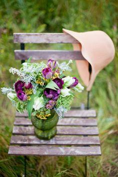 Spring #bouquet in the garden via gypsypurplehometumblr.