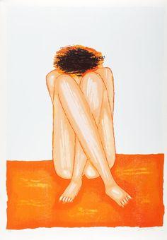 """ArtGalery PERSONALART.PL tytuł/title: """"Akt siedzący, 1997 r."""" author: Jerzy Nowosielski https://www.personalart.pl/jerzy-nowosielski"""