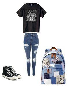 """""""On the road again"""" by gracevalek ❤ liked on Polyvore featuring Topshop, Converse and Marc Jacobs"""