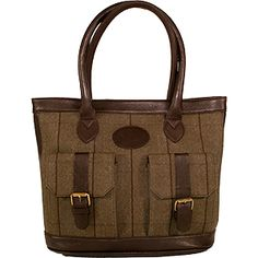 Dee Two Rose Brown Tweed Shopper With Pockets Bag Country Cognac The Country Cognac range of handbags and accessories combines the luxury of leather