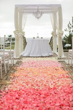 Coral Wedding Inspiration with Ombré Details