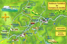 Mapas de Campos do Jordão – SP - MapasBlog