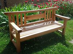 Finished Bench delivered to church    A client contacted me to discuss building a bench she wanted to donate to her parish for the redes...