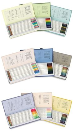 "Tombow Irojiten Colorpencil Sets - each set has 3 ""books""."