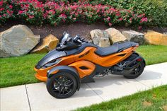 This would match my car!!! Orange Can-Am Spyder RS-S