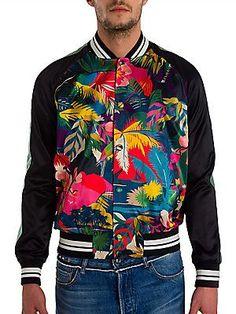 Valentino Tropical Print Souvenir Jacket