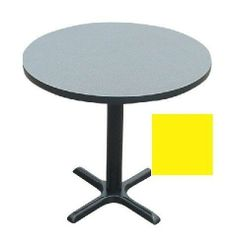 Correll Bxt48R-38 Cafe and Breakroom Tables - Round - Yellow by CORRELL. $366.00. 1.25 Inch High pressure top with backer sheet and black t-moldCast iron base and top spider3 inch D steel column in tableNylon leveling glidesBlack textured finish on all metal partsDimensions: 29 H x 48 diaSee inset for table top color. Save 23% Off!