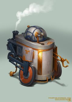 Steampunk Starwars - R2D2, Bjorn Hurri on ArtStation at https://www.artstation.com/artwork/steampunk-starwars-r2d2. #steampunk #victorian #gosstudio  . (Best Gifts online: http://www.zazzle.com/vintagestylestudio)