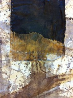 India Flint - in acadia - re-working Shibori Fabric, Fabric Art, India Flint, Collage Landscape, Stitching On Paper, Textiles, Silk Screen Printing, Textile Artists, How To Dye Fabric