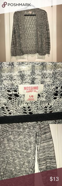 Mossimo gray knit open cardigan Super cute open cardigan with gray,white and black hues**Shop my closet and bundle to save more, reasonable offers considered. Sorry not trading at this moment ** Mossimo Supply Co Sweaters Cardigans