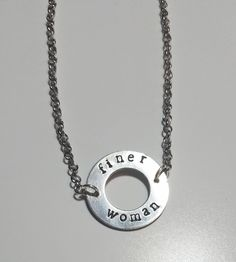 Zeta inspired Finer Woman open circle sorority necklace by SisterBlu on Etsy