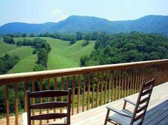 View from Berry Springs Lodge in Sevierville, Tennessee
