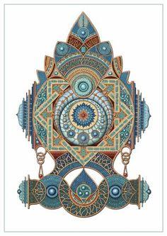 Kalasa by mikpic Creative Art, Rolex Watches, Mandala, Digital Art, Artwork, Accessories, Creative Artwork, Work Of Art, Mandalas