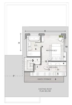 Malmo & Moss Renovation Diary: Our Loft Conversion Plans — Malmo & Moss Attic Conversion Plans, Loft Conversion Ensuite, Loft Conversion Layout, Bungalow Loft Conversion, Loft Conversions, Loft Conversion Lighting, Master Suite Layout, Master Suite Floor Plan, Master Bedroom Plans