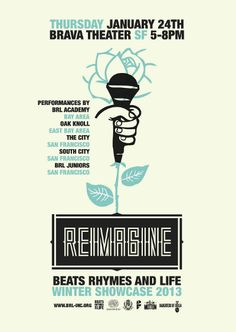 Poster design by Lexx Valdez for Beats Rhymes and Life