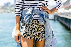 print mixing {stripes + leopard}