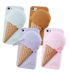 3D Cute Gelato Big Ice Cream Girl Sweet SILICONE CASE COVER FOR IPHONE 4 5 5S