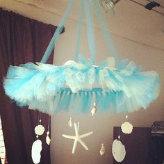 Tutu Chandelier / Baby Mobile Beach Theme by YSCreativeCreations,