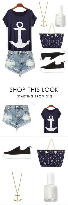 """""""Cute Summer Warm Day"""" by sophie-spencer1 ❤ liked on Polyvore featuring One Teaspoon, River Island, Kate Spade and Essie"""
