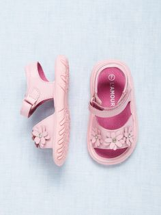 Pink Flower Sandal by L'Amour & Angel at Gilt