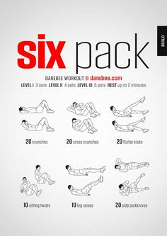 Six pack workout. No excuses - this workout can be done anywhere. The summer is . - Carola - Six pack workout. No excuses – this workout can be done anywhere. The summer is … – - Sixpack Abs Workout, Sixpack Training, Oblique Workout, Ab Workout Men, Workout For Flat Stomach, At Home Workout Plan, Pilates Workout, At Home Workouts, Oblique Exercises