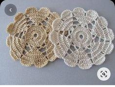 Crochet Motif Patterns, Granny Square Crochet Pattern, Crochet Mandala, Crochet Doilies, Crochet Flowers, Crochet Lace, Thread Crochet, Crochet Crafts, Crochet Stitches