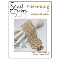 Meandering in Gold and White is eligible for Sand Fibers 3-for- 2 Pattern Program. Purchase any two Sand Fibers patterns and receive a third, of equal or lesser value, for free. Just specify your free pattern in the Notes to Seller during checkout. _____________________ The pattern in this listing is for my original Meandering Gold and White peyote design, which is created in odd count, single peyote. The design is 2 wide when created with size 11/o delica beads. The pdf file includes ...