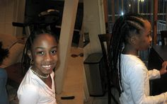 Young girls with threaded hair. Tutorial on hair threading available. This method can be used to reduce strinkage so that you don't have to use heat on young hair. African Threading, Hair Threading, My Heritage, African Hairstyles, Cornrows, My Girl, Black Hair, Stretches, Curls