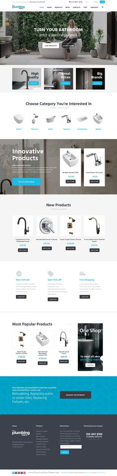 Beautiful responsive WordPress eCommerce #theme for any home repair and maintenance business: #plumbing, carpentry, remodeling & renovation, construction #website. Download Now!