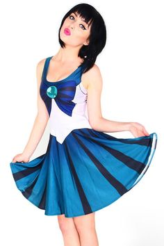 Light Blue Sailor Moon Digital Print Dress Uniform