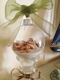 Coastal  Sand and Shell Ornament