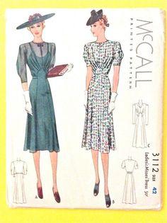 Robe McCall 1939 dames des femmes des années 1930 Uncut & Misses