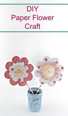 DIY paper flower craft with free printable template to use Fun Activities For Preschoolers, Spring Activities, Craft Activities, Preschool Crafts, Spring Projects, Spring Crafts, Craft Projects, Craft Ideas, Diy Ideas