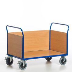 GTARDO.DE:  Dreiwandwagen, Tragkraft 600 kg, Ladefläche 1200x780 mm, Maße 1370x800 mm, Rad-Ø 200 mm 269,00 €
