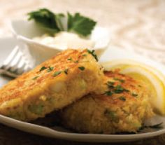 Chicken Croquettes-similar to a crab cake.  I make this with leftover roasted chicken. Everyone loves them especially the toddler.  Lemon wedges are a must. Enjoy!