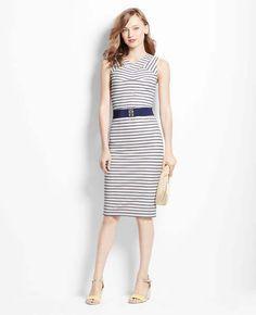 Charter Stripe Knit Dress | Ann Taylor