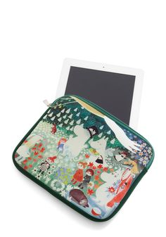 Moomin and Shaking Tablet Case. Moomin fans and friends of fab accessories alike will adore the whimsical artwork on this Disaster Designs tablet case! #green #modcloth