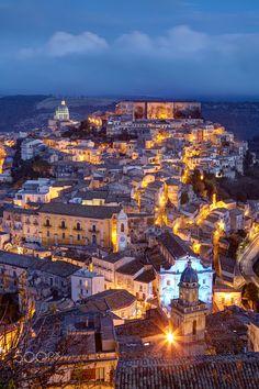 Ragusa Ibla by night in Sicily - Ragusa Ibla by night in Sicily, Italy