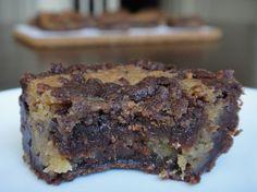 Vegan cookie dough brownies #vegan