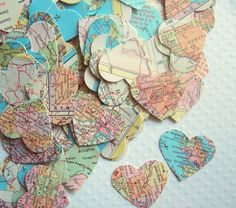 love confetti for weddings- could be done in any color or pattern or paper