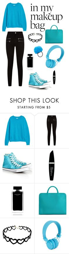 """Blue,Black"" by margoucha ❤ liked on Polyvore featuring Paige Denim, Converse, Max Factor, Narciso Rodriguez, Matt & Nat, Urbanears and Cara"