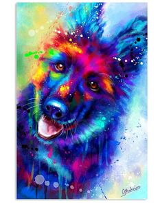 "Awesome ""german shepherds"" detail is readily available on our internet site. Cute Animal Drawings, Cute Animal Pictures, Dog Pictures, Dog Wallpaper, Animal Wallpaper, Cute Funny Animals, Cute Baby Animals, Rainbow Dog, Wolf Spirit Animal"