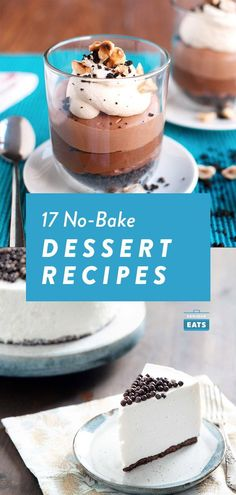 Greek Yogurt Cheesecake, No Bake Chocolate Cheesecake, Yogurt Dessert, Dark Chocolate Cookies, Easy Cake Recipes, Dessert Recipes, Baked Oatmeal Cups, Strawberry Shortcake Recipes, No Cook Desserts