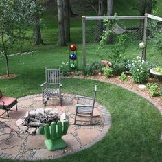 landscaping around a fire pit | In Ground Fire Pit Design Ideas, Pictures, Remodel, and Decor