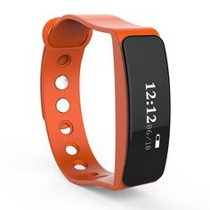W23 Smart Watch Wristband, Oksale Bluetooth 4.0 Heart Rate Sleep Monitor, OLED Display Sport Pedometer Bracelet Fitness Tracker for Above Android 4.4 /IOS 7.0 (Orange) ** Click image to review more details. (This is an affiliate link and I receive a commission for the sales)