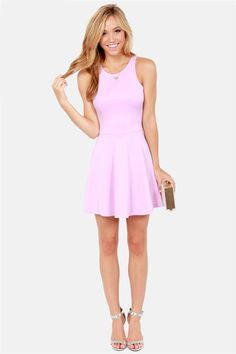 LULUS Exclusive Wanna Race? Lavender Dress at LuLus.com!